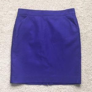 J. Crew royal purple pencil skirt sz 16